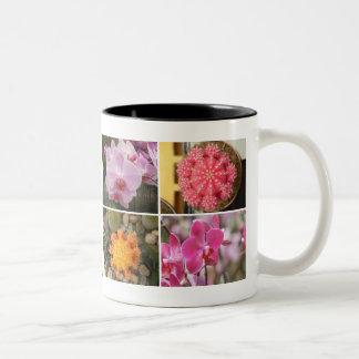 Exotic Flowes Photo Cup Two-Tone Coffee Mug