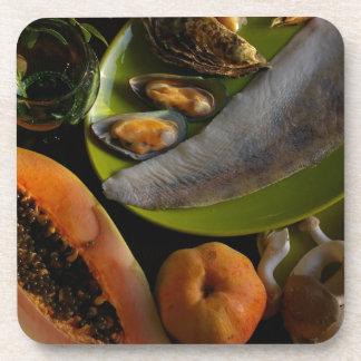 Exotic food coasters