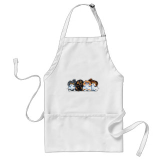 Exotic Foursome Cats Apron