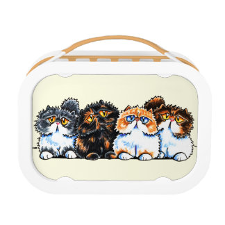 Exotic Foursome Cats Yubo Lunchboxes