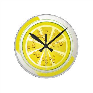 Exotic Fruit Lemon Wall Clock