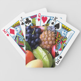Exotic fruits bicycle playing cards