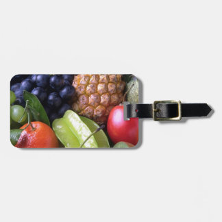 Exotic fruits tags for bags