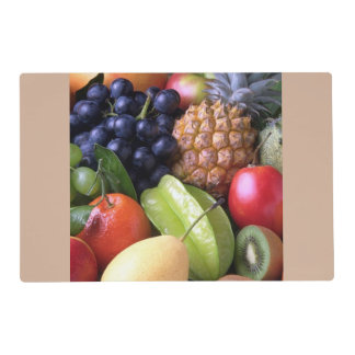 exotic fruits laminated placemat