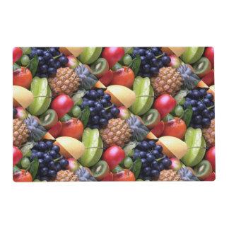 exotic fruits laminated place mat