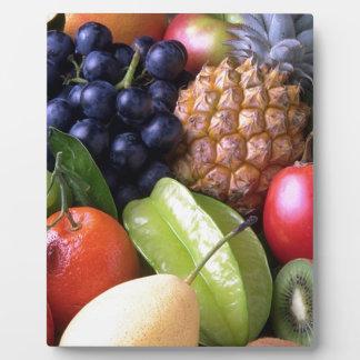 Exotic fruits plaque