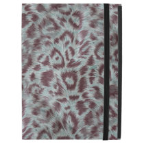 "Exotic Furry Leopard Spots Dusty Blue Aubergine iPad Pro 12.9"" Case"