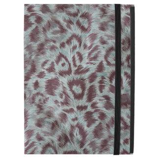 "Exotic Furry Leopard Spots Dusty Blue Aubergine iPad Pro 12.9"" Case"