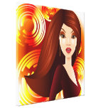 Exotic Girl in Golds Wrapped Canvas Gallery Wrap Canvas