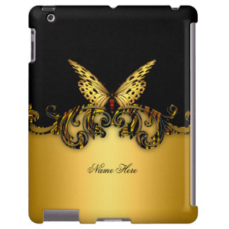 Exotic Gold Black Butterfly Yellow Gold