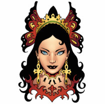exotic, girl, brunette, illustration, ankh, earrings, al rio, thomas mason, drawing, gothic, goth, Photo Sculpture with custom graphic design