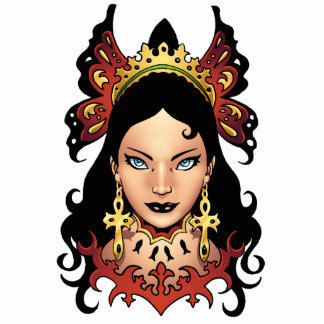 Exotic Gothic Queen with Ankh Earrings by Al Rio Cutout