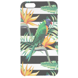Exotic Green Bird And Palm Trees Uncommon Clearly™ Deflector iPhone 6 Plus Case