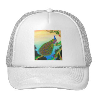 Exotic Green Peacock Hat