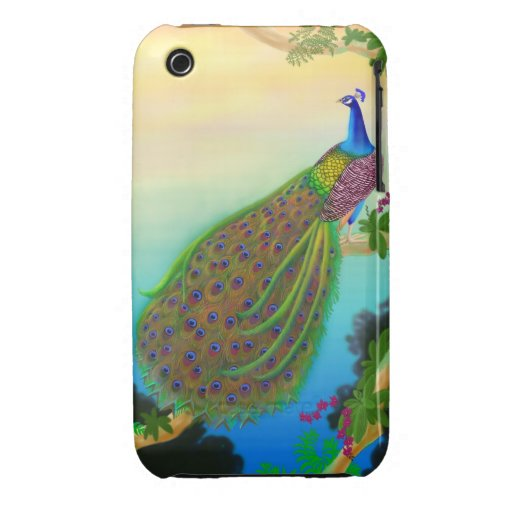 Exotic Green Peacock iPhone 3 Cover