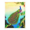 Exotic Green Peacock Wrapped Canvas wrappedcanvas