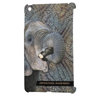 Exotic Grey Elephant Leather Camouflage Animal iPad Mini Cases