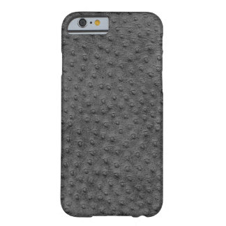 Exotic Grey Ostrich Leather iPhone 6 Case