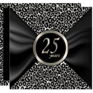 Exotic Happy Anniversary - 25 Years Card