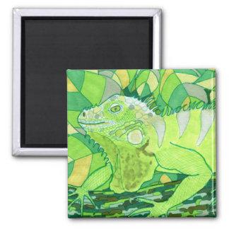 Exotic Iguana 2 Inch Square Magnet