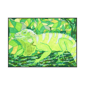 Exotic Iguana Canvas Print