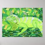 Exotic Iguana Print
