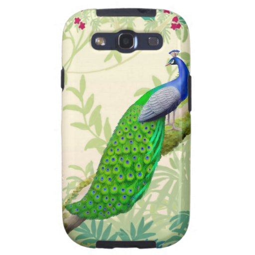 Exotic Indian Blue Peacock Samsung Galaxy S2 Case
