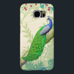 "Exotic Indian Blue Peacock Samsung Galaxy S6 Case<br><div class=""desc"">Original fine art design of an Indian blue peacock by artist Carolyn McFann of TPC Studio printed on a quality Samsung Galaxy S6 case for wild bird fans.</div>"