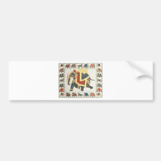 EXOTIC INDIAN ELEPHANT ARTWORK BUMPER STICKER