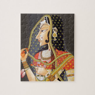 EXOTIC INDIAN PRINCESS VINTAGE PAINTING JIGSAW PUZZLE