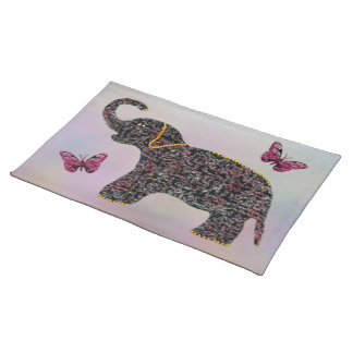 Exotic Jewel Elephant Butterfly Placemats