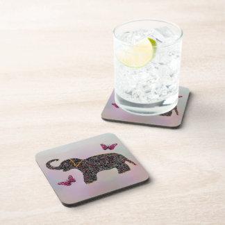 Exotic Jewel Elephant Coaster Set