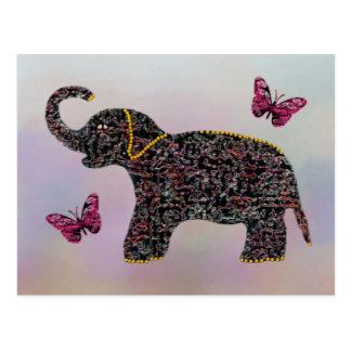 Exotic Jewel Elephant Postcards