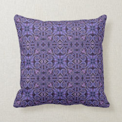 Exotic Jewels Purple Panels Throw Pillow