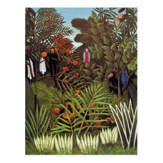 Exotic Landscape 1908 by Henri Rousseau Postcard
