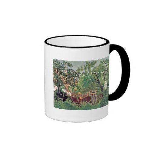 Exotic Landscape, 1910 Ringer Coffee Mug