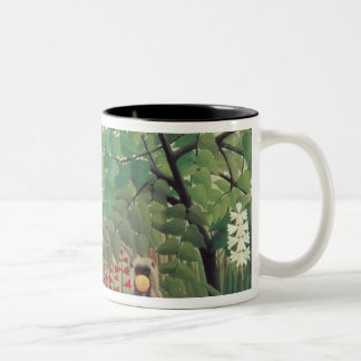 Exotic Landscape, 1910 Two-Tone Coffee Mug