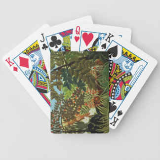 Exotic landscape bicycle playing cards