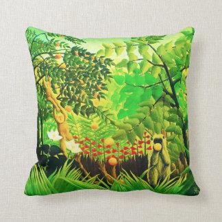 Exotic Landscape, by Henri Rousseau Pillows
