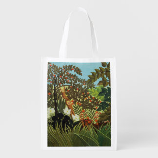 Exotic landscape grocery bags