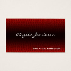 Exotic Leather Modern Professional Business Cards at Zazzle