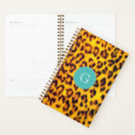 "Exotic Leopard Spots Fur Pattern Teal Monogram Planner<br><div class=""desc"">Enjoy this safari inspired pattern of photographic leopard spots with a soft teal blue custom monogram. Cruelty-free is the future of fashion. Our photographic animal prints are the best way to integrate natural animal prints into your daily life. Check Sparkle Motion for the full range of leopard print office supplies,...</div>"
