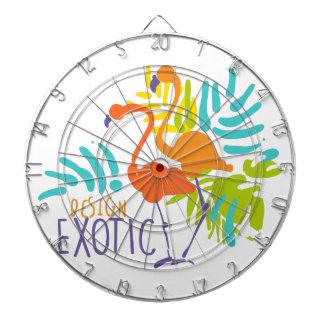 Exotic logo design with flamingo birds dartboard with darts