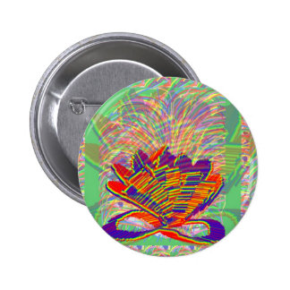 Exotic LOTUS and Grass Bushes on background 2 Inch Round Button