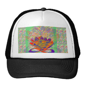 Exotic LOTUS and Grass Bushes on background Trucker Hat