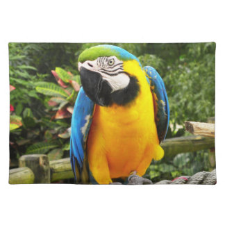 Exotic Macaw Parrot Placemat