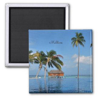 Exotic Maldives 2 Inch Square Magnet