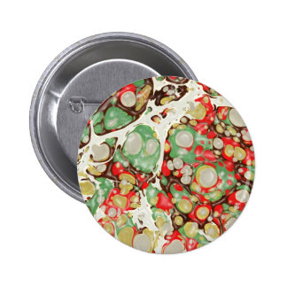 exotic MARBLE Stone Spread 2 Inch Round Button
