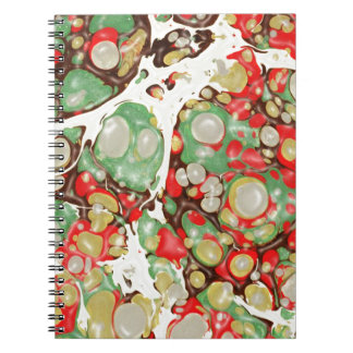 exotic MARBLE Stone Spread Spiral Note Book