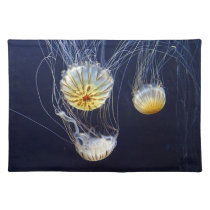Exotic Marine Salt Water Jellyfish Placemat